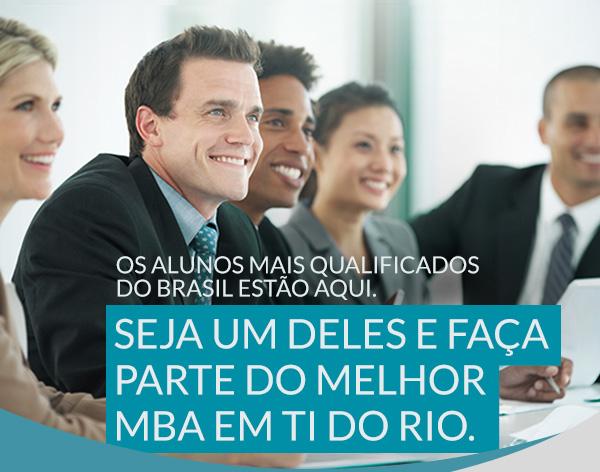 Os alunos mais qualificados do Brasil estão aqui. Seja um deles e faça parte do melhor MBA em TI do Rio.