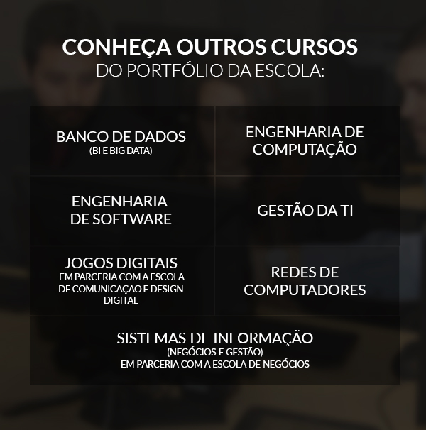 CONHEÇA OUTROS CURSOS DO PORTFÓLIO DA ESCOLA: