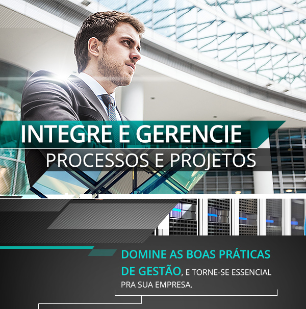 Integre e gerencie processos e projetos