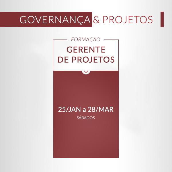 Calendário de Formações - Formação Governança e projetos Formação Gestor de TI Formação Gerente de Projetos