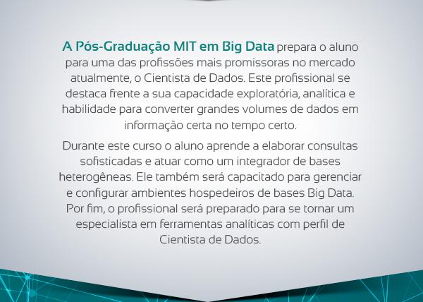 a pós graduação em big data