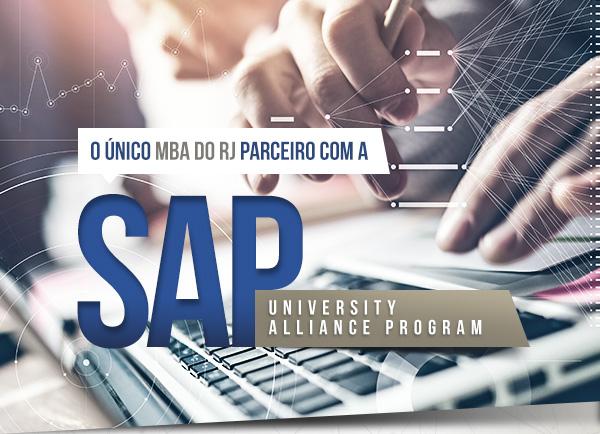 Único MBA do RJ parceiro com a SAP University Alliance Program
