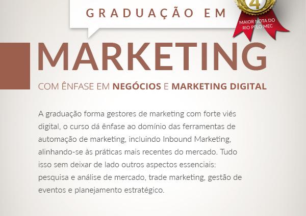 Graduação em Marketing com Ênfase em Negócios e Marketing Digital
