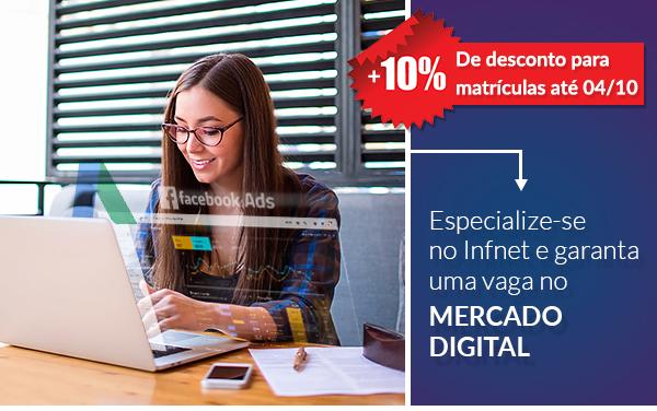 Especialize-se no Infnet e garanta uma vaga no mercado digital