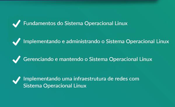 A formação em Administrador de Rede Linux auxilia na sua preparação para as certificações LPIC-1 e LPIC-2.