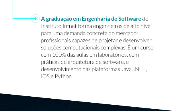A graduação de engenharia de software do Instituto Infnet