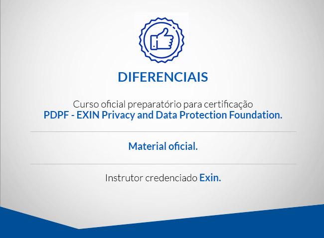 Diferenciais: Curso Oficial, Material Oficial e Instrutor credenciado Exin